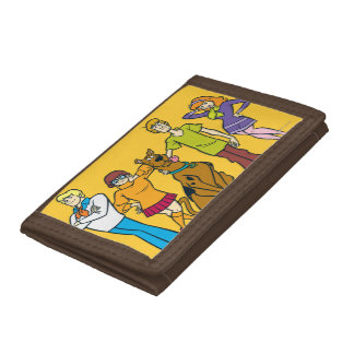 Whole Gang 14 Mystery Inc Trifold Wallet