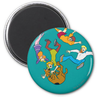 Whole Gang 17 Mystery Inc 2 Inch Round Magnet