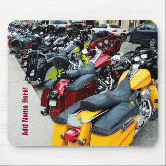 Whole Hog Harley Davidson Motorcycles Mouse Pad