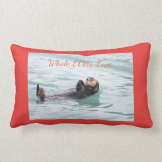 Whole L'Otta Love tranquil otter Christmas pillow