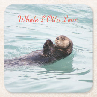 Whole L'Otta Love tranquil otter holiday coasters
