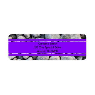 Whole lotta rocks! Purple Edition Address Labels