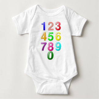 Whole Numbers or Counting Numbers Plus Zero Baby Bodysuit