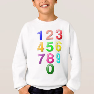 Whole Numbers or Counting numbers to 9 Sweatshirt