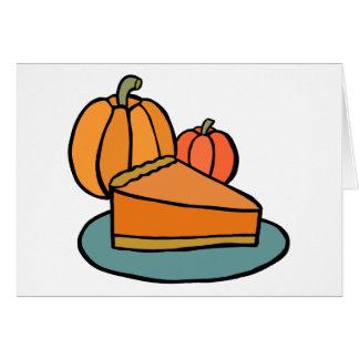 Whole Pumpkin Pie Card