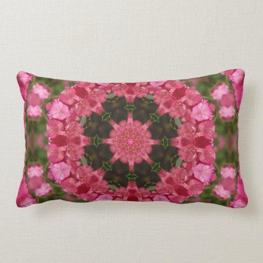 Wholeness l Pink Floral Mandala Lumbar Pillow