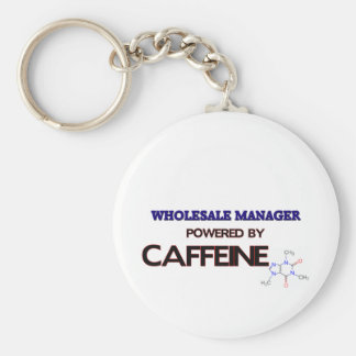 Wholesale Manager Powered by caffeine Basic Round Button Keychain