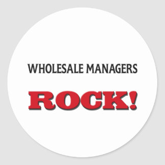 Wholesale Managers Rock Round Stickers