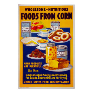 Wholesome Food Vintage Poster