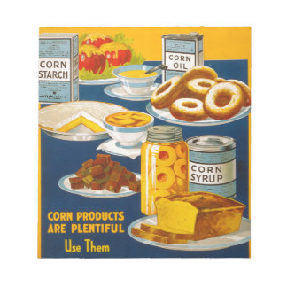 Wholesome - nutritious foods from corn notepads