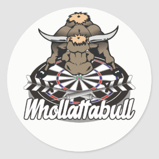 Whollatabull Darts Team Classic Round Sticker
