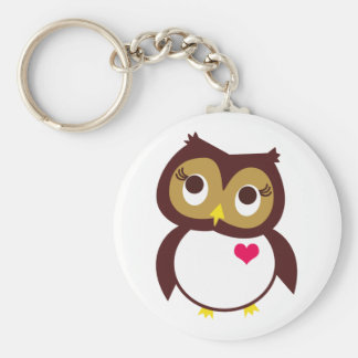 Whoo Loves You Basic Round Button Keychain