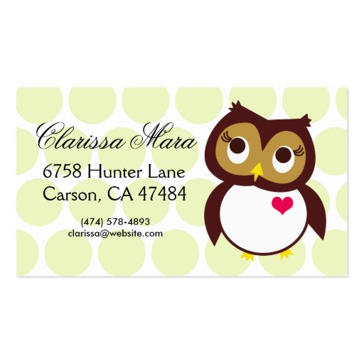 Whoo Loves You Business Card