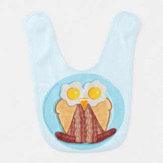 Whoo Wants Breakfast? Owl Bib