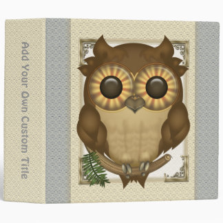 "Whoolio The Cute Owl 2"" Custom Binder"