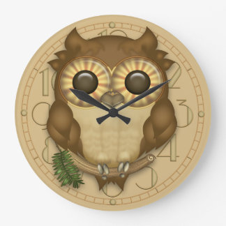 Whoolio The Cute Owl Wall Clock