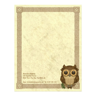 Whoolio The Cutest Owl Letterhead