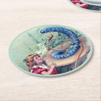 Whooo Are You? 1 Round Paper Coaster