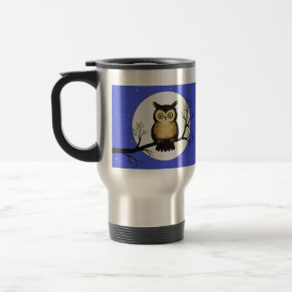 Whooo you lookin' at? travel mug