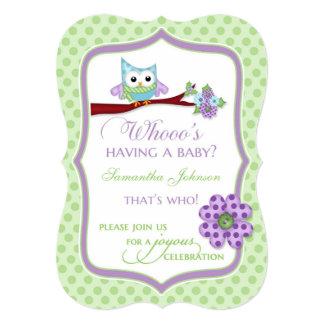 Whooo's Having a Baby? Owl Shower Invitation