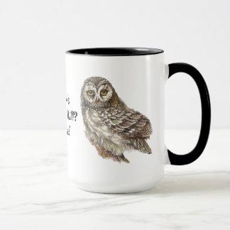Whooo's Over the Hill, Not Me, Fun Old Owl Humor Mug