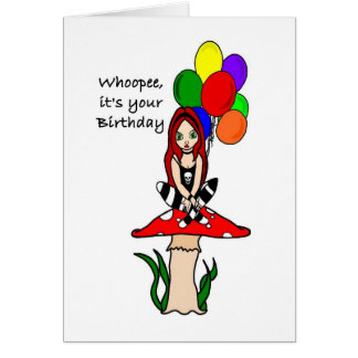 Whoopee, it's your Birthday Goth Faerie Greeting Card