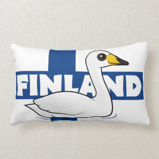Whooper Swan of Finland Lumbar Pillow