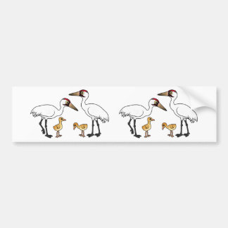 Whooping Crane Family Bumper Sticker