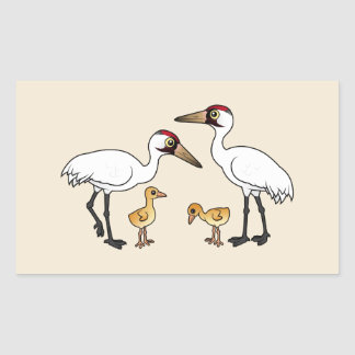 Whooping Crane Family Sticker