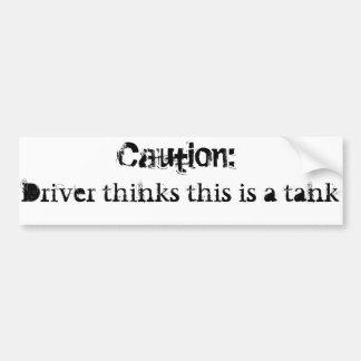 Whoops wrong tank bumper sticker