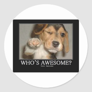 whos-awesome round sticker