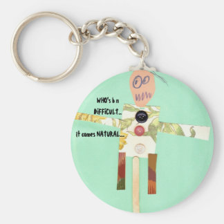 """Who's b n difficult it's nature  """"Autism Speaks"""" Basic Round Button Keychain"""