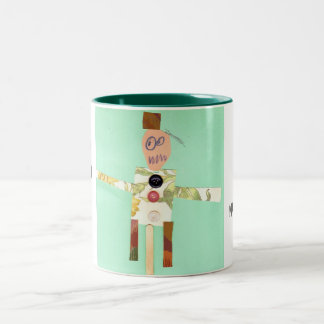 """Who's b n difficult it's nature """"Autism Speaks"""" Two-Tone Coffee Mug"""