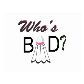 Whos Bad Postcard