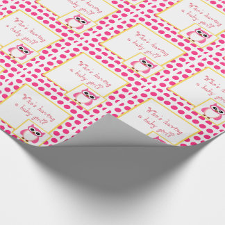 Who's Have A Baby Girl? Pink Owl Baby Shower