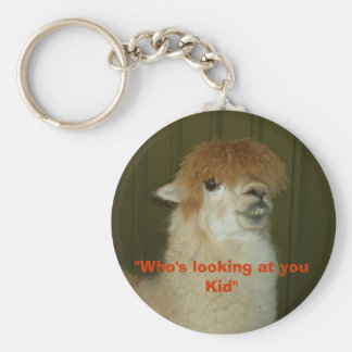 """Who's looking at you Kid"" Basic Round Button Keychain"