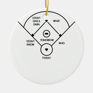 who's on first What's on second I don't know is... Ceramic Ornament