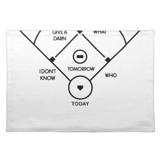 who's on first What's on second I don't know is... Placemat