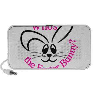 Whos The Easter Bunny Laptop Speakers