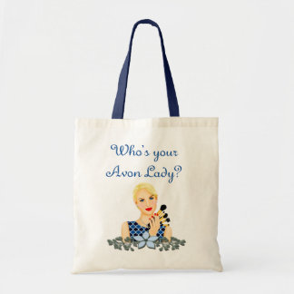 Who's Your AVON Lady, blue Tote Bag