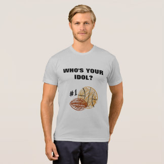 """""""Who's Your Idol?"""" (customizable image) T-Shirt"""