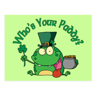 Who's Your Paddy Frog Postcard