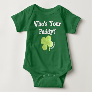 WHO'S YOUR PADDY? ST. PATRICK'S DAY BABY OUTFIT BABY BODYSUIT