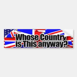 whose country bumper sticker