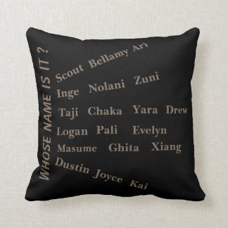 Whose Name Is It ? Throw Pillow by MMetropolim,