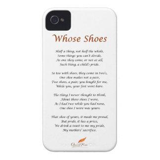 Whose Shoes Poem iPhone 4 Case-Mate Case