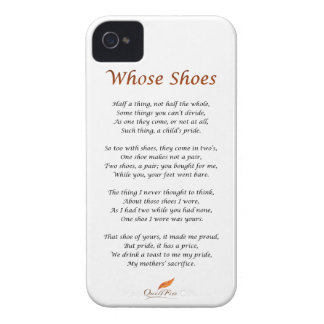 Whose Shoes Poem iPhone 4 Cover