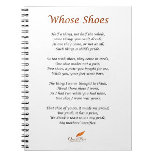 Whose Shoes Poem Notebook