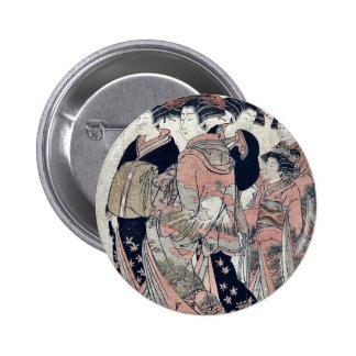 Whose sleeves at Daimonji ya by Isoda, Koryusai, Buttons