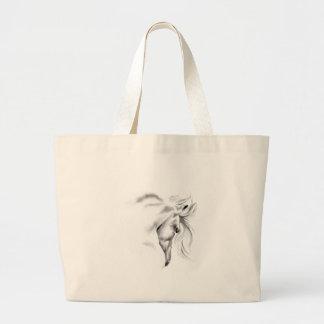 Whte Horse Head  Bag